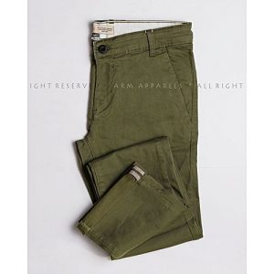 ARM Apparels Rusty Green Chino Pant for Men MW1778