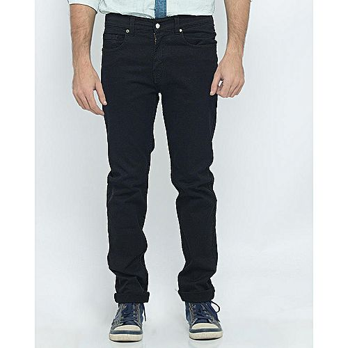 Asset Faded Blue Stretch Denim Straight-leg Trousers with Distressing for Men Slim Fit