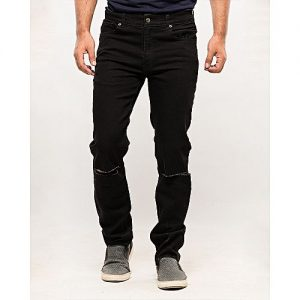 Asset Black Stretch Denim Jeans for Men