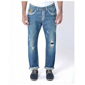 Asset Blue Denim Distressed Jeans with Contrast - M-2143