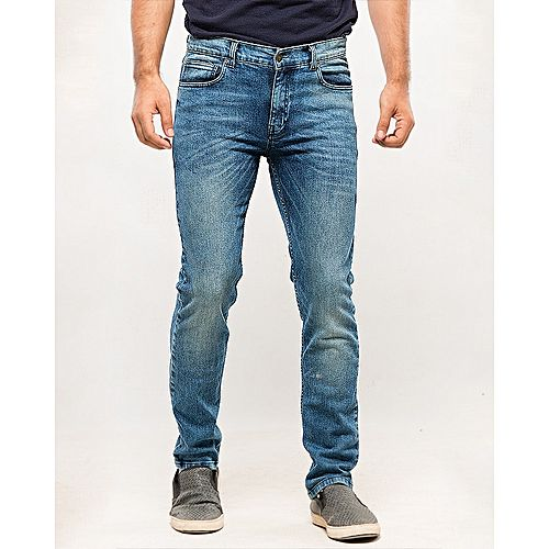 Asset Blue Denim Jeans with Green Tinting for Men