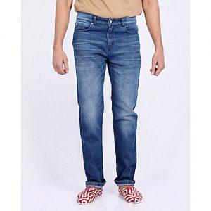 Asset Blue Denim Jeans With Light Whiskers For Men