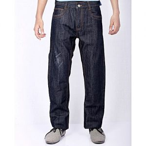 Asset Blue Denim Jeans With Scrapping For Men - MD-022