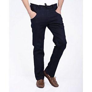 Asset Dark Blue Denim Move Jeans with Denim Fastner for Men
