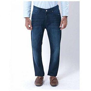 Asset Light Blue Basic Denim Straight-leg Jeans with Ropework for Men Slim Fit Size: 32
