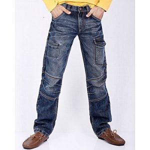 Asset Dark Blue Denim Relaxed-Fit Jeans with Joints and Four Pockets for Men Comfort Fit