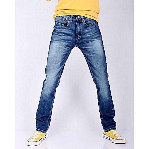 Asset Dark Blue Stretch Denim Slim-Fit Jeans High-waisted for Men Skinny Fit