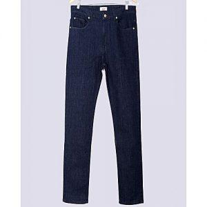 Asset Dark Blue Stretch Denim Tapered-Fit Jeans For Men Slim Fit