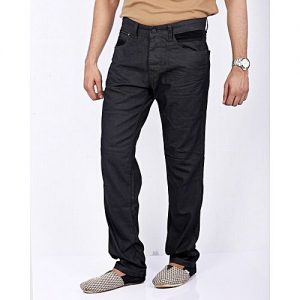 Asset Dark Grey Denim Overdyed Jeans with Permanent Whiskers & Black Contrasts for Men -