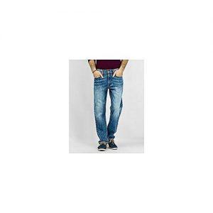 Asset Light Blue Cotton Faded Wash Jeans For Men - 22130030406-34