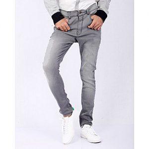 Asset Light Grey Denim Skinny-Fit Jeans High-waisted for Men - Super-slim Fit