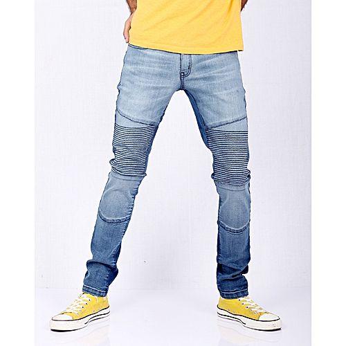 Asset Two Tone Denim With Medium Fit Blue Stretch Skinny Biker Jeans tshQrdCxB