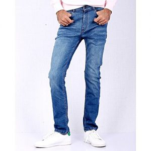 Asset Medium Blue Stretch Denim Skinny Fit Jeans For Men Slim Fit