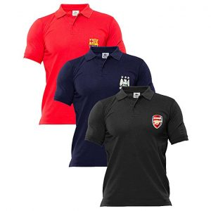 Aybeez black ,blue,red pack of 3 polo Tshirts with front logo