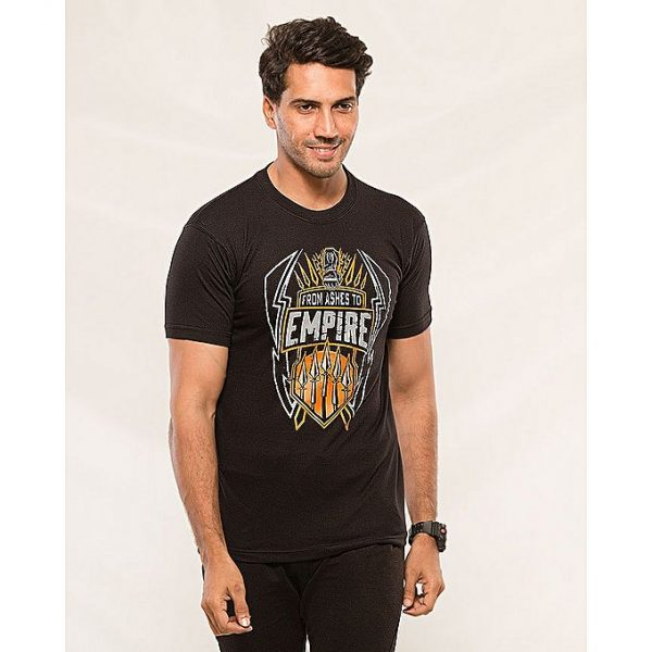 Aybeez Black Empire Printed t-shirt for men