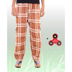 Aybeez Brown Cotton Trouser for Men - With Fidget Spinner MW1907