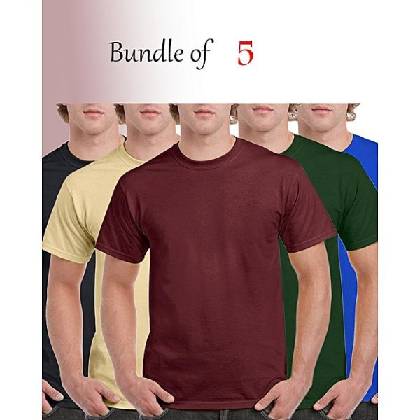 Aybeez BUNDLE OF 5 ROUND NECK T-SHIRTS FOR MEN