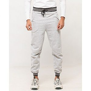 Aybeez Gray Cotton Men Grey Casual Trouser High Quality For Men MW1930