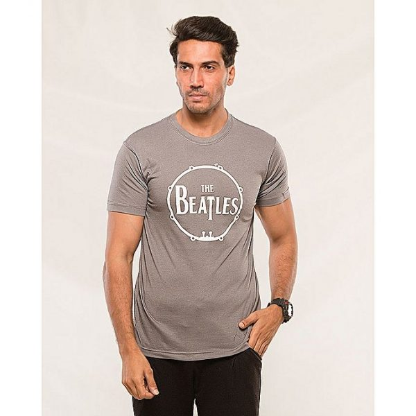 Aybeez Gray The Beatles printed t-shirt for men