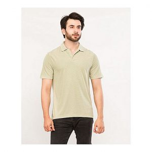 Aybeez Light Sea Green Lining Polo T-Shirt For Men