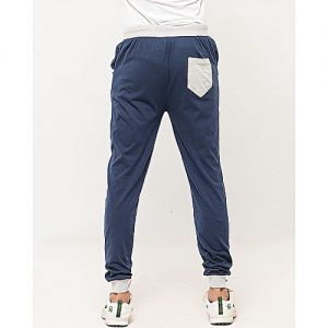 Aybeez Navy Blue Cotton Trouser For Men MW1909
