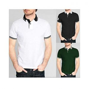 Aybeez Pack of 3 - Strip Polo T-shirts For Men