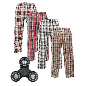 Aybeez Pack of 4 - Multicolor Cotton Checkered Trouser - With Fidget Spinner MW1928