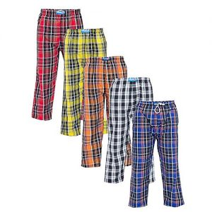 Aybeez Pack Of 5 Multicolor Cotton Checkered Easy Wear Pajamas - Abz-1358 MW1924
