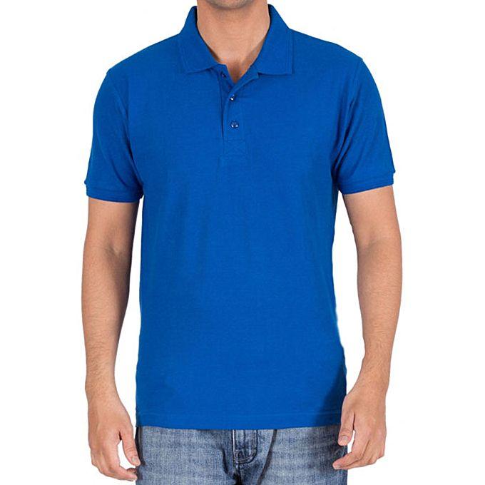 928b443a7d Aybeez Royal Blue Cotton Plain Polo T-Shirt for Men - Menswear.pk