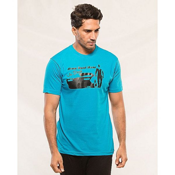 Aybeez Sky Blue Home Sweet Home Vin Diesel Printed t-shirt for men