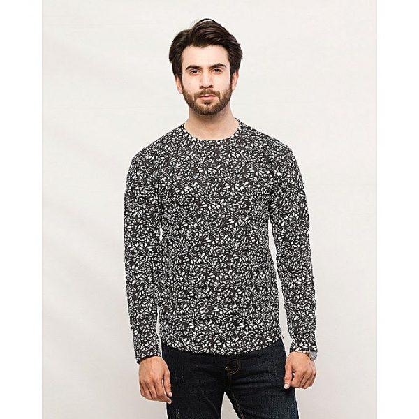 Aybeez Stylish Round Neck Printed T-Shirt For Men