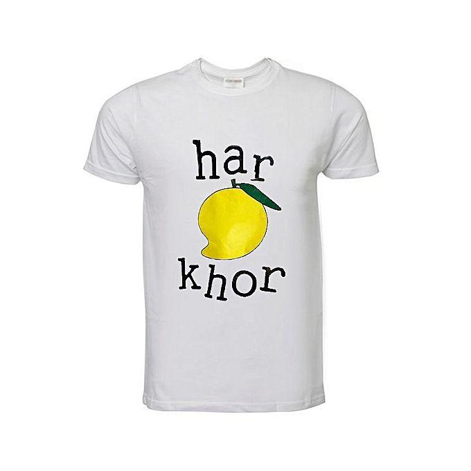 Aybeez White har Khor Printed T shirt For Men