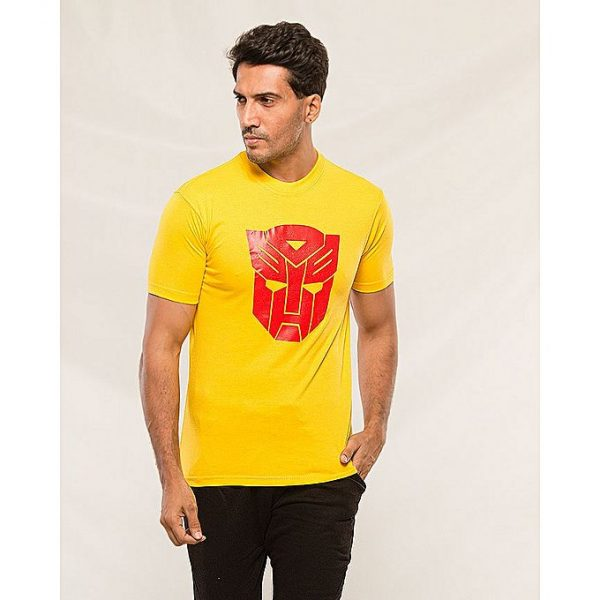 Aybeez Yellow Transformar Printed t-shirt for men