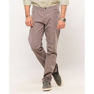 IGNITE Grey-Cotton Men's Cotton Pants-Slim Fit MW1628