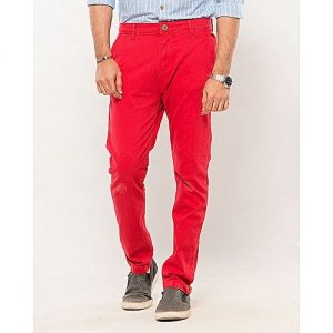 IGNITE Machine Red-Cotton-Stretch Men's Chino-Slim Fit MW1638