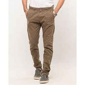 IGNITE Olive-Cotton Men's Chino-Slim Fit MW1640