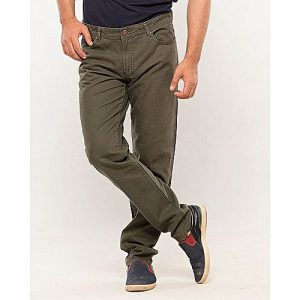IGNITE Olive-Cotton Men's Cotton Pants-Slim Fit MW1636