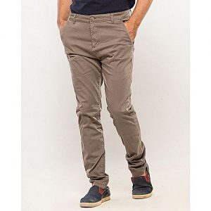 IGNITE Olive-Cotton-Stretch Men's Chino-Slim Fit MW1642