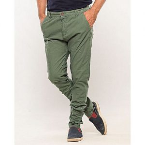 IGNITE Sea Green-Cotton Men's Chino-Slim Fit MW1634