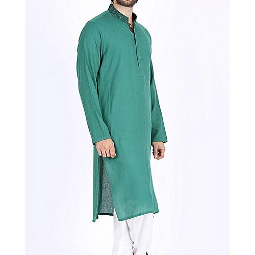 01ff9741b16e Junaid Jamshed Sea Green Cotton Regular Fit Men s Kurta - Menswear.pk