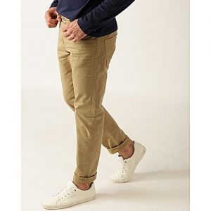SA Bazaar Men Khaki Slim Fit Solid Chinos MW1883