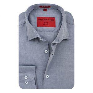 Shahzeb Saeed Grey Cotton Shirt for Men SS029