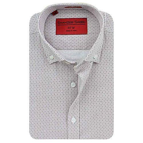 Shahzeb Saeed Light Pink Cotton Shirt for Men Regular Fit SS078