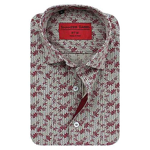 Shahzeb Saeed Multicolor Cotton Shirt for Men SS009