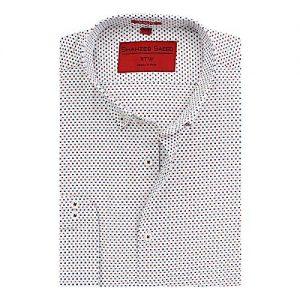 Shahzeb Saeed Orange, Blue & White Cotton Shirt for Men SS017