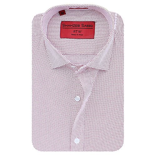 Shahzeb Saeed Pink Cotton Shirt for Men - Slim Fit SS031