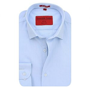 Shahzeb Saeed Sky Blue Cotton Shirt for Men SS035