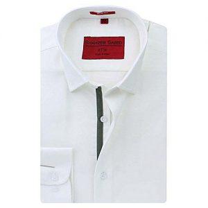 beb6ba0347 Asset Dark Blue Knitted Denim Shirt with Random Wash for Men mw244 ...