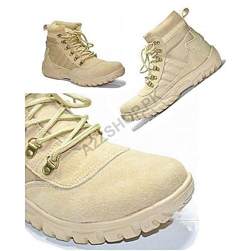 A2ZSHOPPK Beige Suede Leather Army Boots For Men MS 46 - Menswear.pk 5da3bcf5d