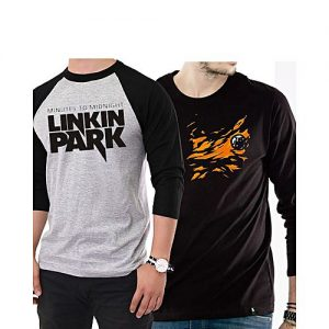 Aashi Pack of Two Raglan Tee A1704-614